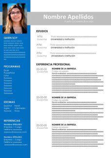 Plantillas Y Modelos De Curriculum Vitae - Modelo De